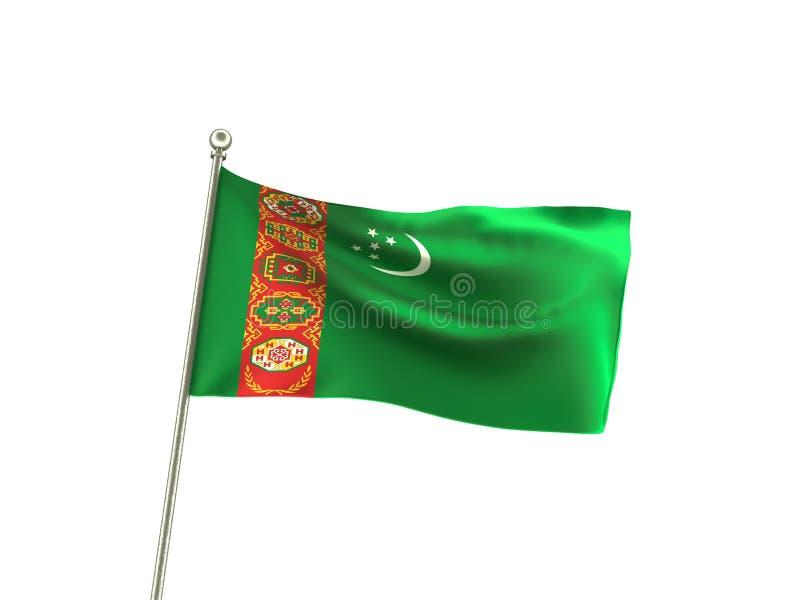 Krabb Turkmenistan flagga stock illustrationer