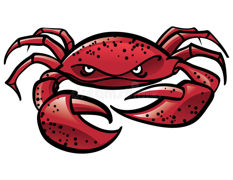 krabba royaltyfri illustrationer