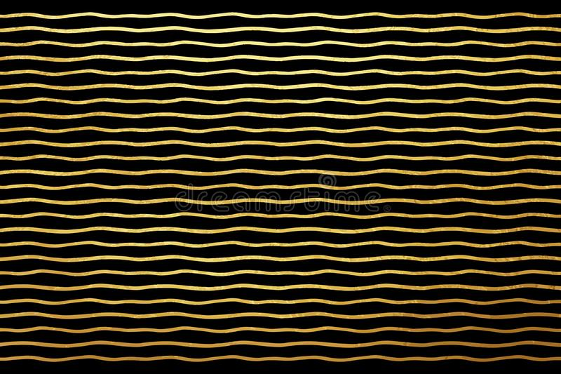 Krabba blänka guld- band eller vågbakgrund vektor illustrationer