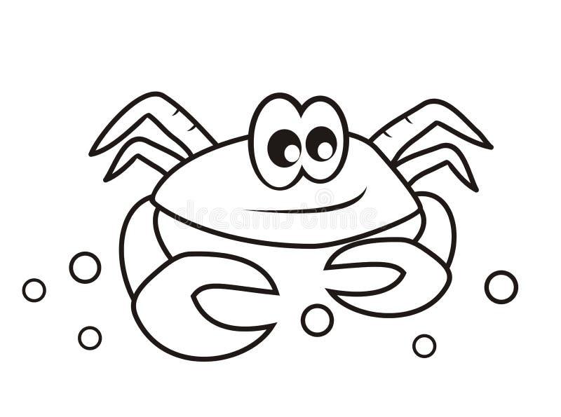 Krabba - färgläggningbok royaltyfri illustrationer