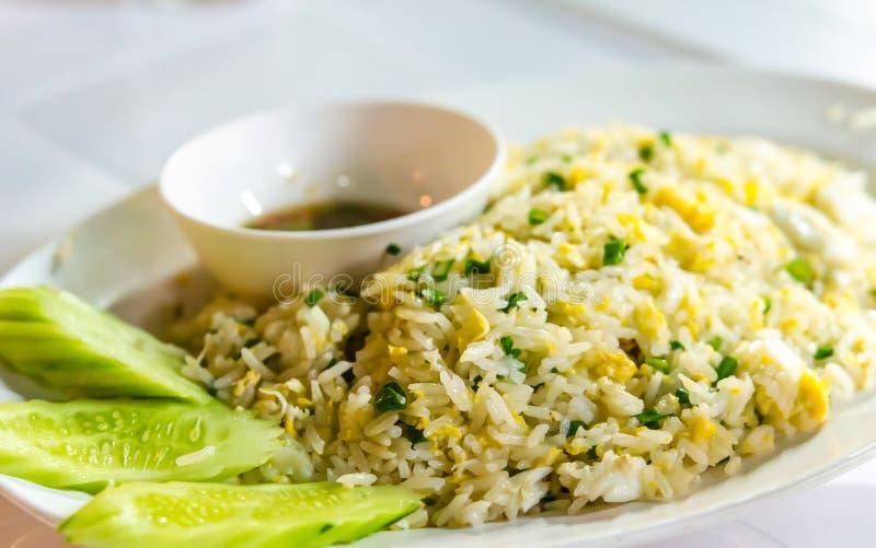 Krabba Fried Rice royaltyfri bild