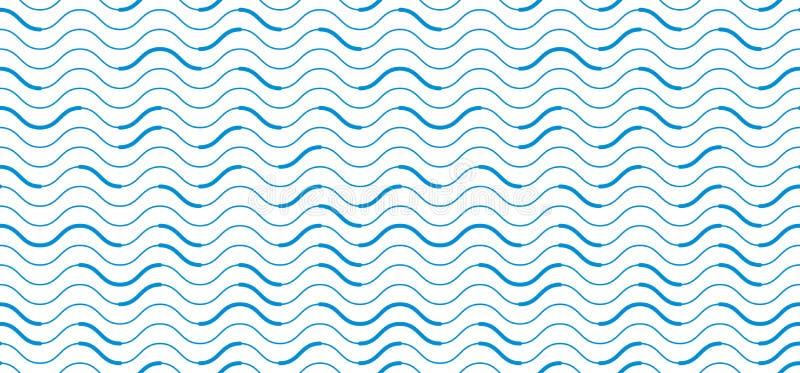 Krabba linjer ändlös bakgrund för vanlig repetition, abstrakt se stock illustrationer