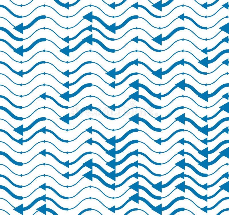 Krabba linjer ?ndl?s bakgrund f?r vanlig repetition, abstrakt s?ml?s modell f?r vektor, tekniska digitala stilbl?tt f?rgade rytmi vektor illustrationer