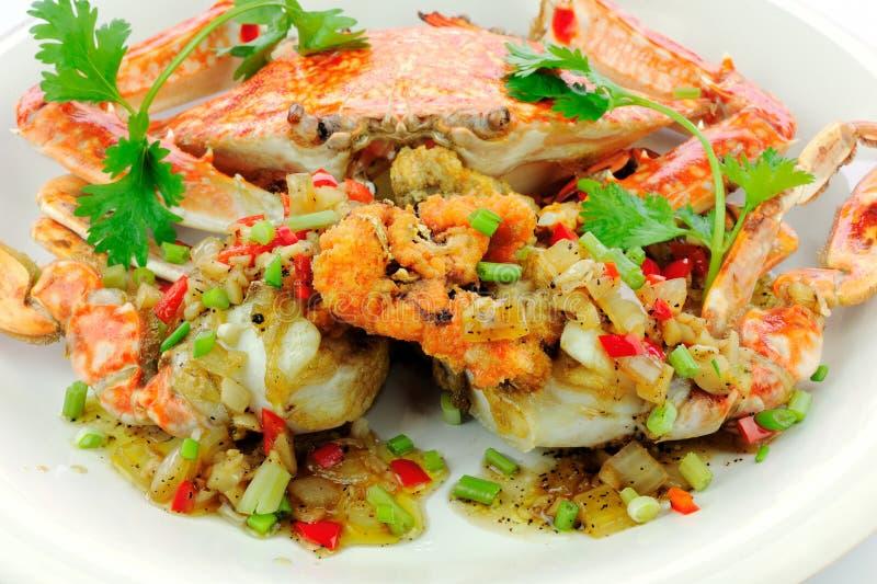 krabba stekt stir royaltyfri bild