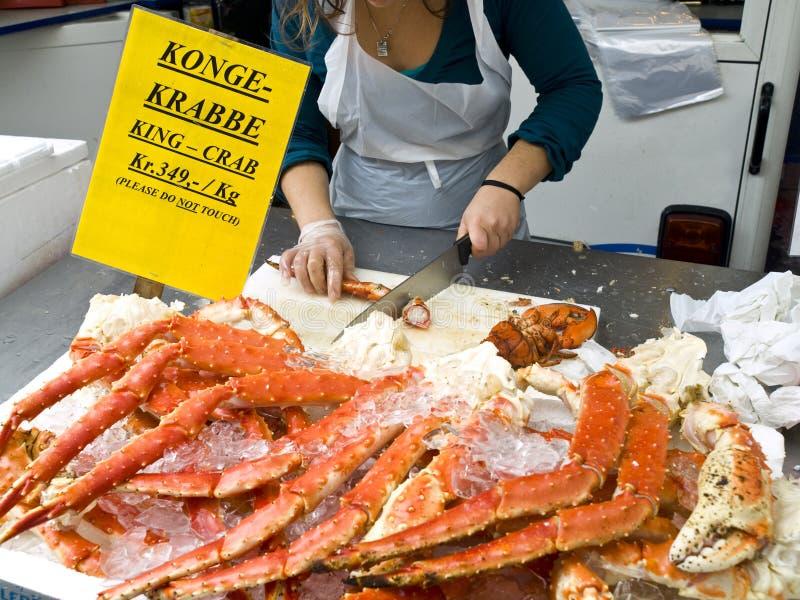 krabbakonungförsäljning royaltyfri fotografi