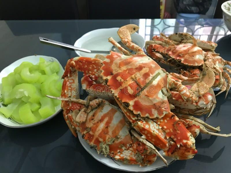 Krabban har lagats mat royaltyfri foto