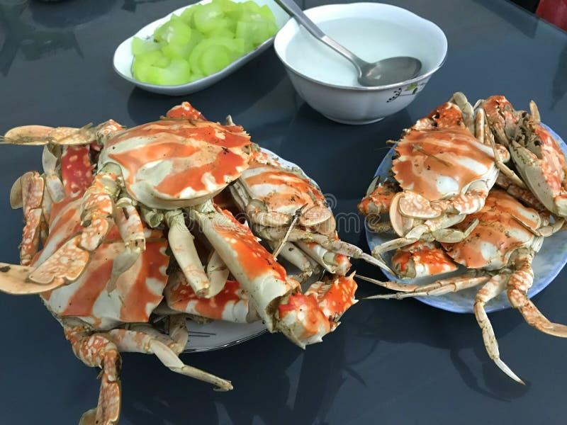 Krabban har lagats mat royaltyfri bild