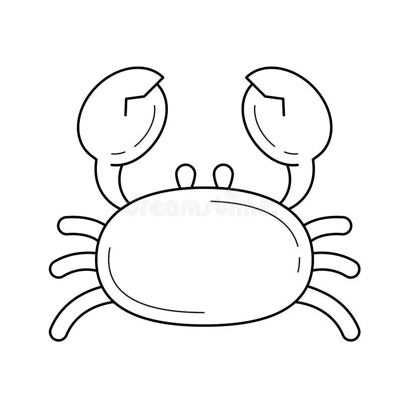 Krabbavektorlinje symbol vektor illustrationer