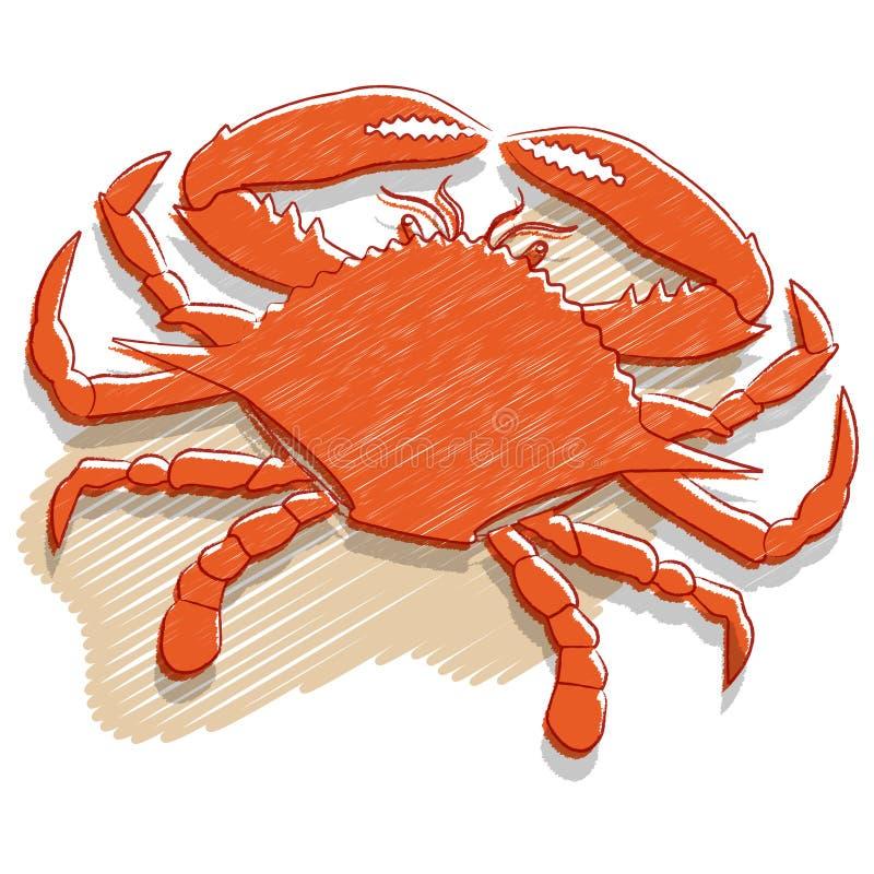 Krabbe lizenzfreie abbildung
