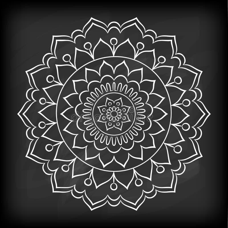 Krabbel Mandala Flower royalty-vrije illustratie