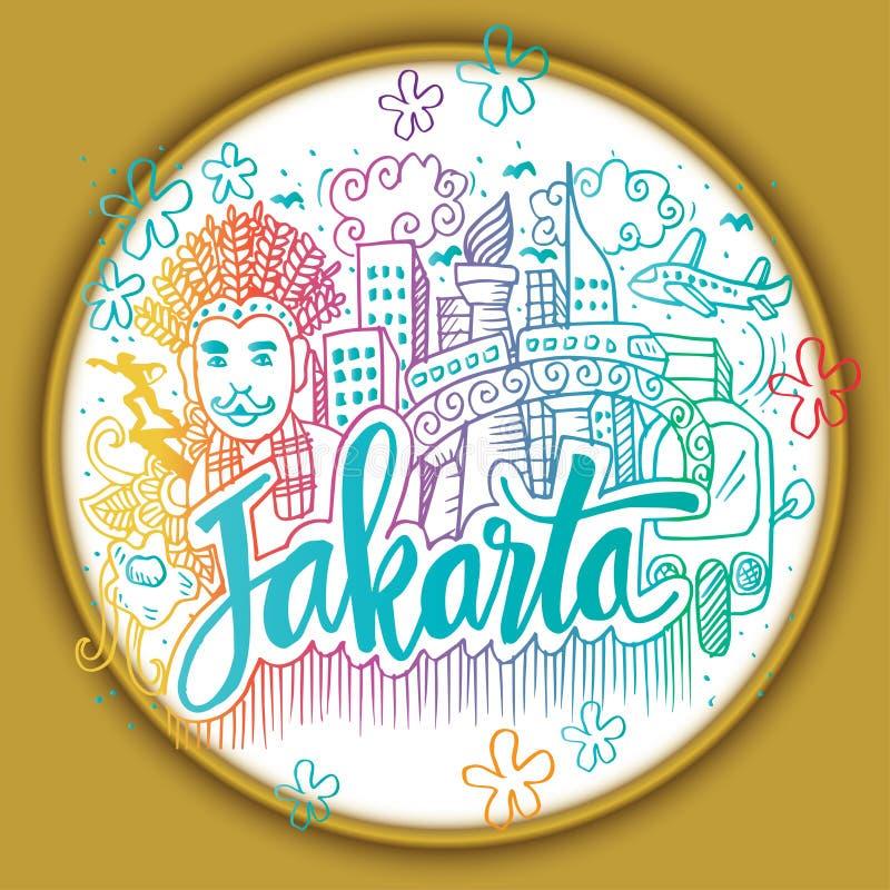 Krabbel van Djakarta vector illustratie