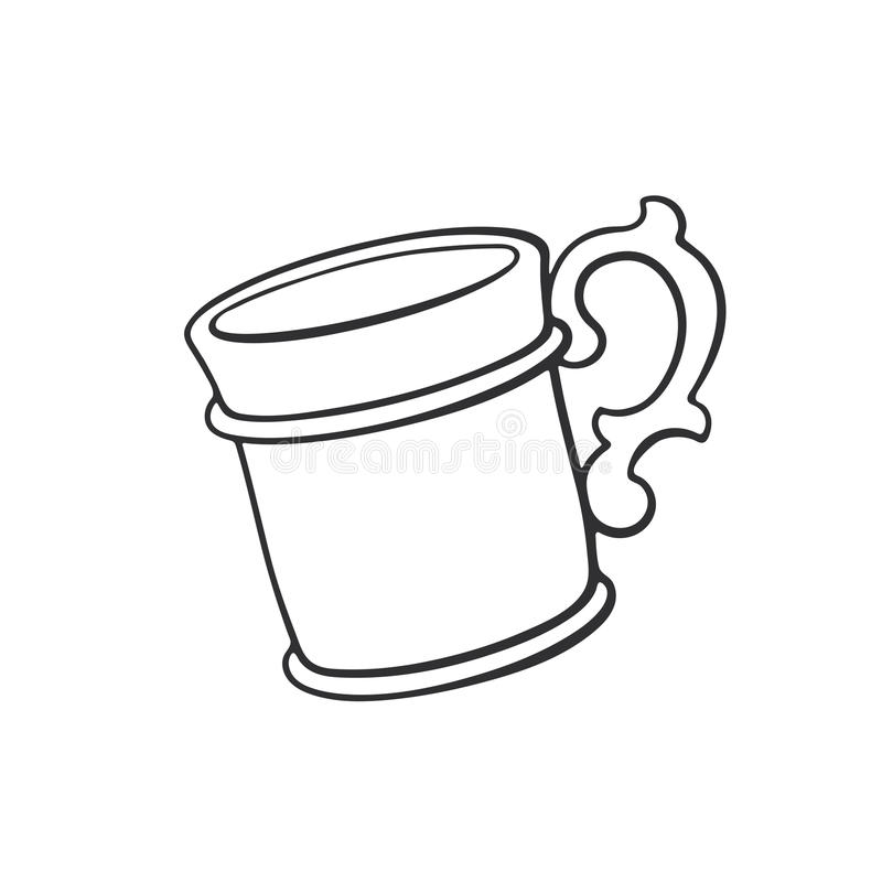 Krabbel van mok stock illustratie