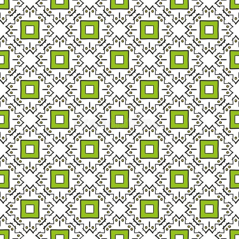 Krabbel vierkant groen patroon stock foto's