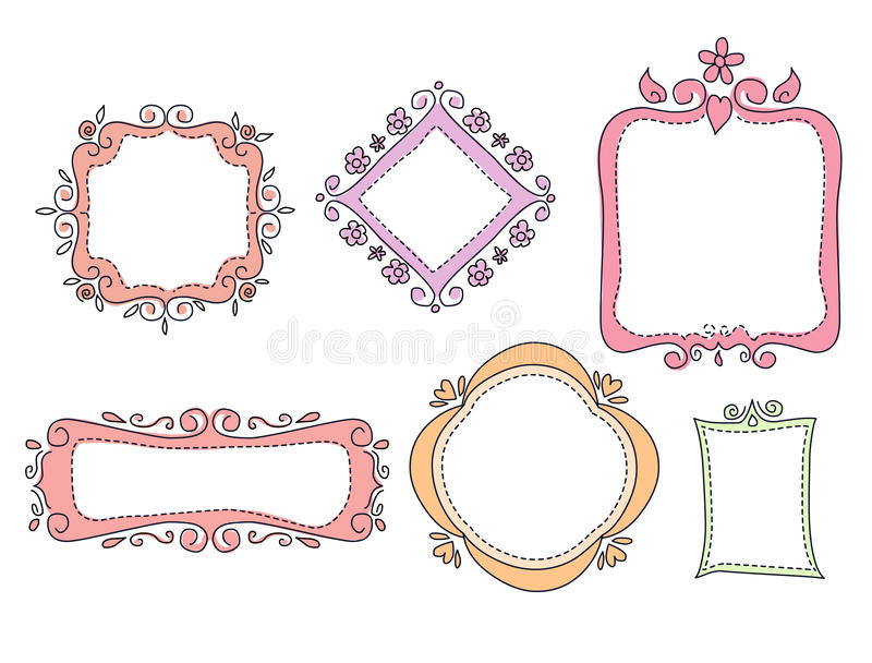 Krabbelkaders vector illustratie