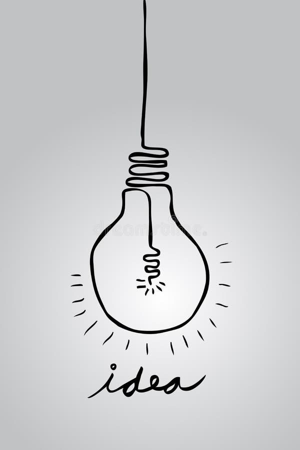 Krabbellamp - Idee vector illustratie