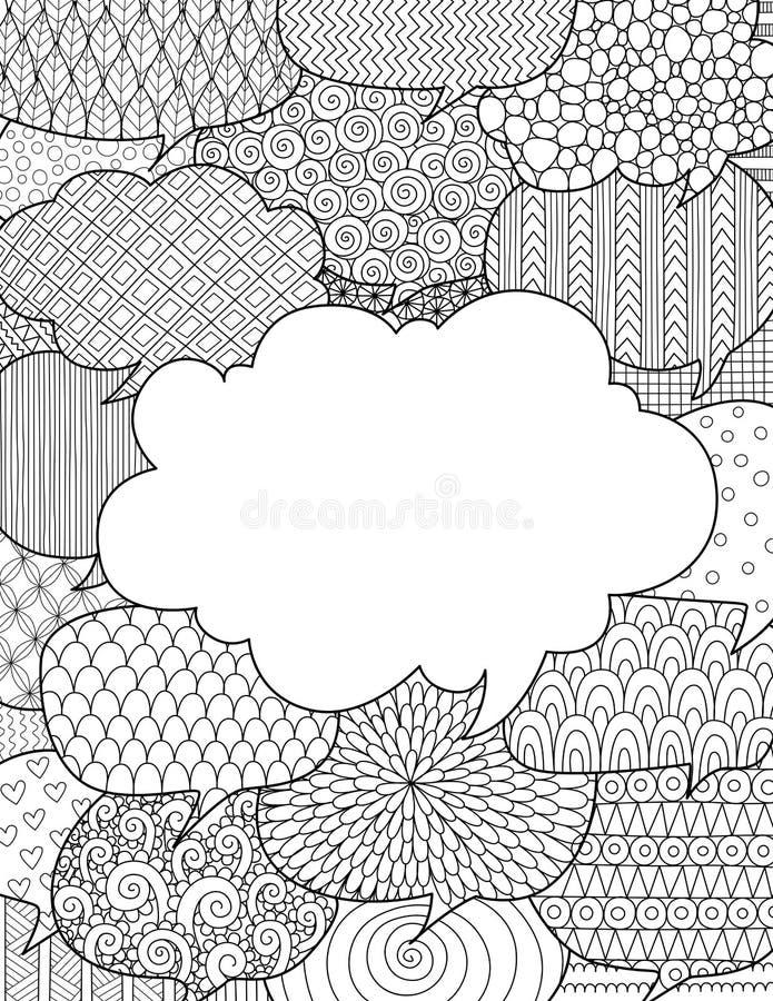Krabbelontwerp van toespraakbellen voor illustratie met communicatie concept royalty-vrije illustratie