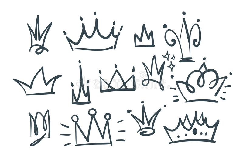 Krabbelreeks kronen royalty-vrije illustratie