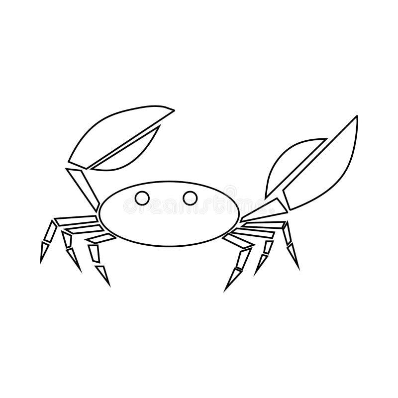 Krabbenikone, Entwurfsart vektor abbildung