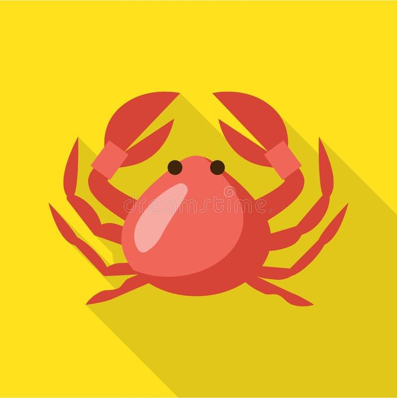 Krabbenikone, flache Art vektor abbildung