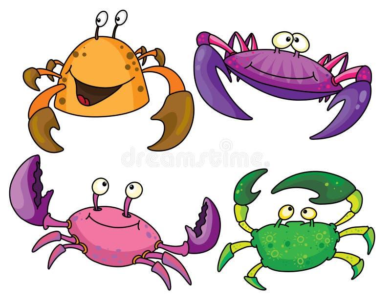 krabbor vektor illustrationer