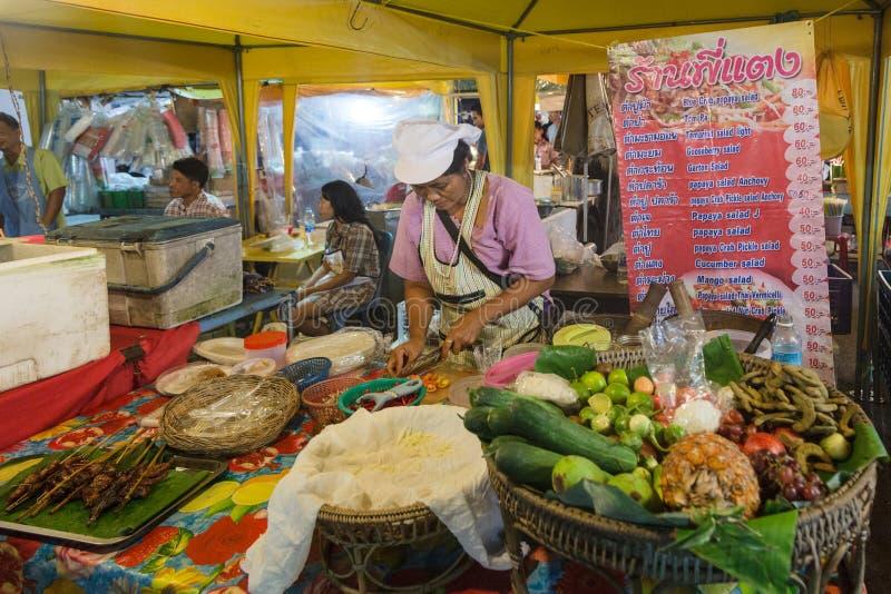 Krabi夜市场 图库摄影