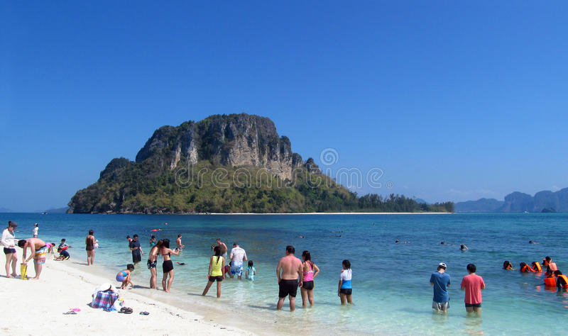 Krabi Beaches and Islands Thailand, limestone rock formations royalty free stock photography