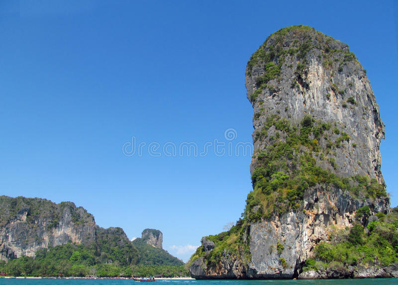 Krabi limestone rock formations, Thailand royalty free stock image