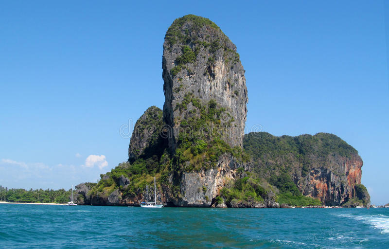 Krabi limestone rock formations, Thailand royalty free stock photos