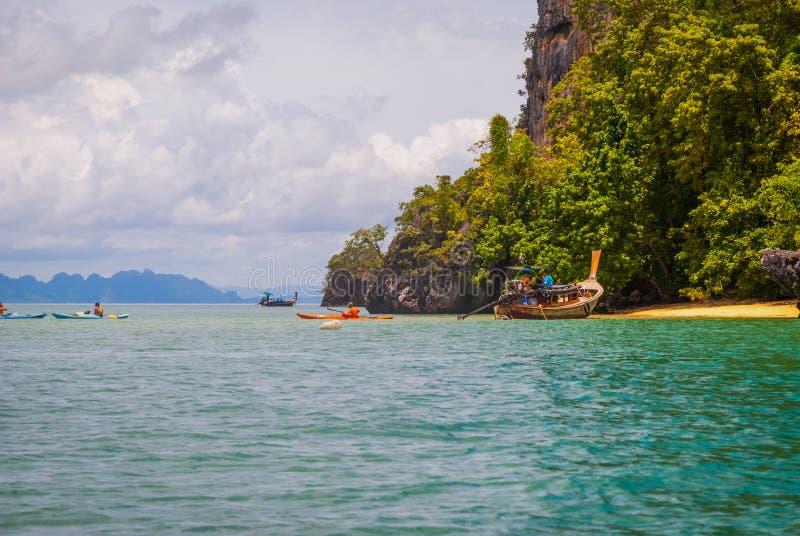 Krabi plaży wyspy obraz royalty free