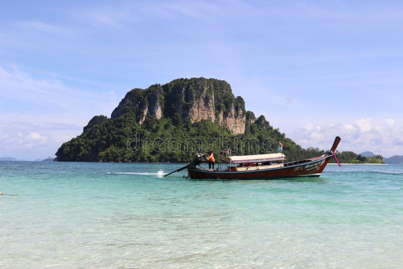 Krabi Province, Thailand, Thailand`s most popular tourist destinations. Krabi, on southern Thailand's west coast, is a province characterized by craggy royalty free stock image