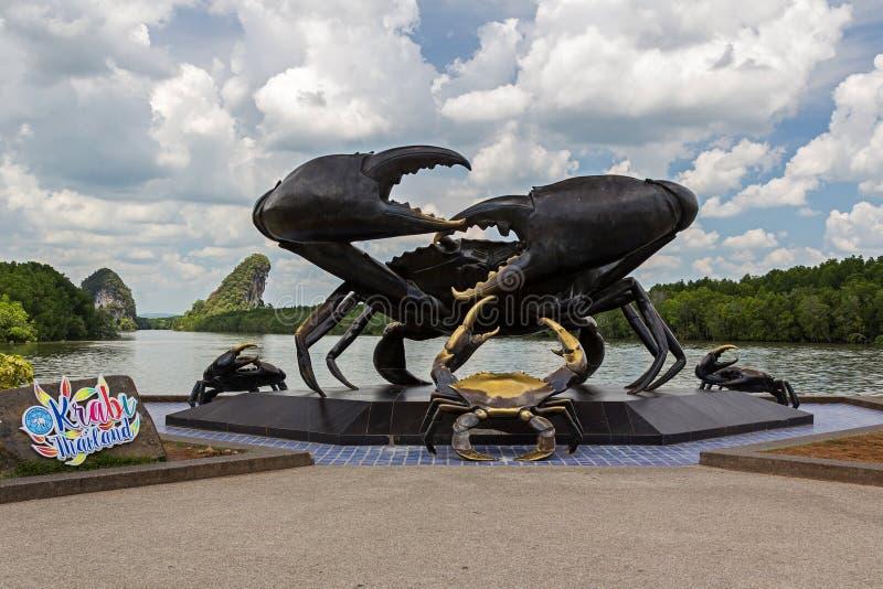 Krabi stad i Thailand, Asien royaltyfria bilder