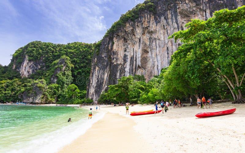 Beautiful beach of Hong island, famous place in Krabi, Thailand stock photo