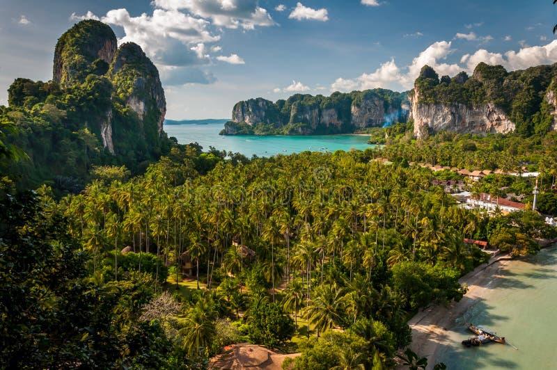 Krabi view. Beautiful view to Krabi peninsula, Thailand royalty free stock image