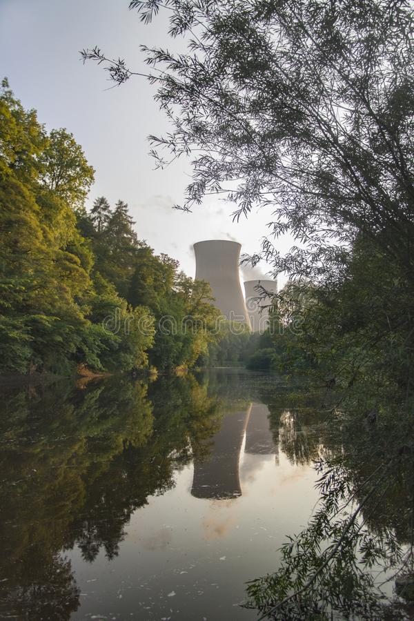 Krachtcentrale op de banken van de rivier Severn in Ironbridge royalty-vrije stock foto's