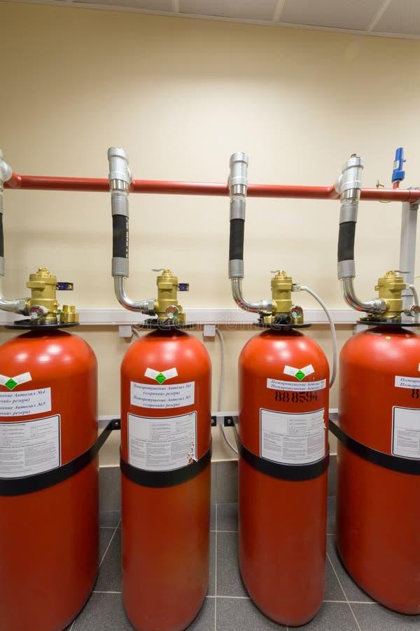 Krachtig industrieel brandblussysteem. royalty-vrije stock afbeeldingen