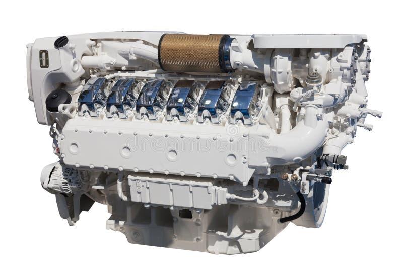 Krachtige motor. Geïsoleerd over wit royalty-vrije stock fotografie