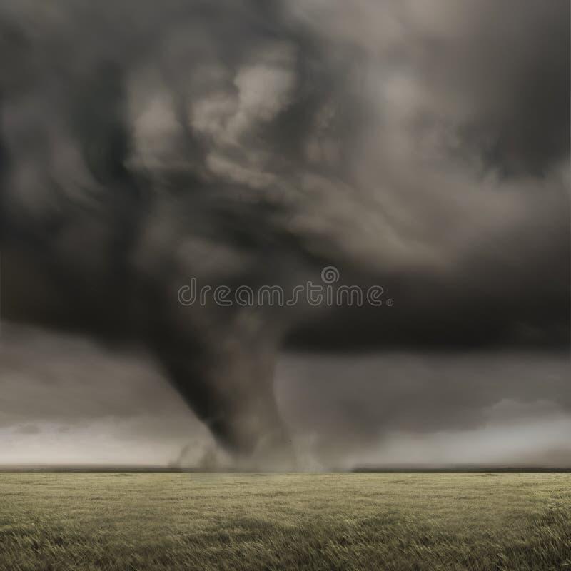 Krachtige Tornado stock afbeeldingen