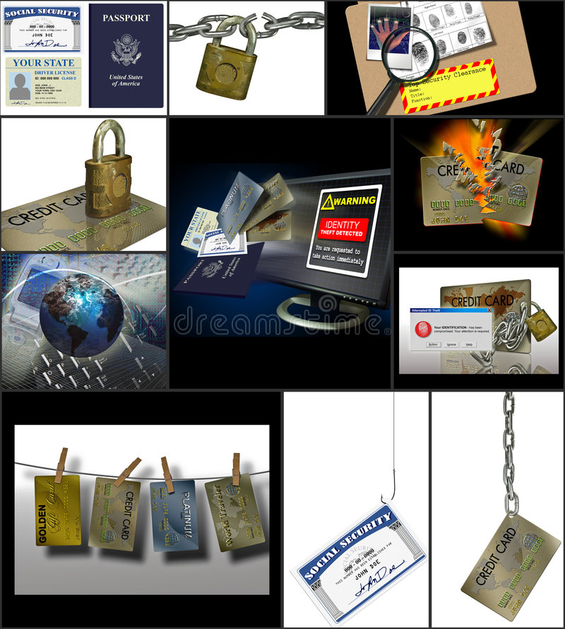 kradzież tożsamości internetu royalty ilustracja