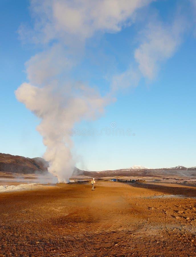 krafla Исландии зоны геотермическое стоковая фотография rf