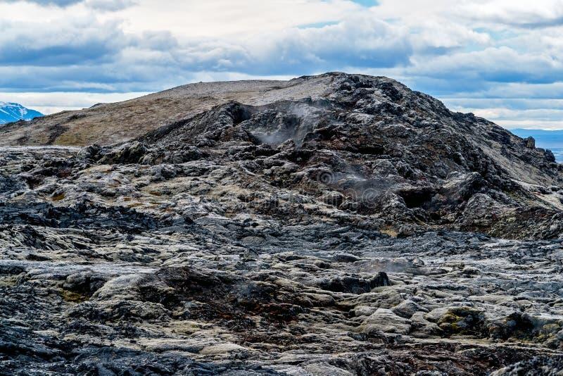 Krafla lavafält - Island royaltyfria foton