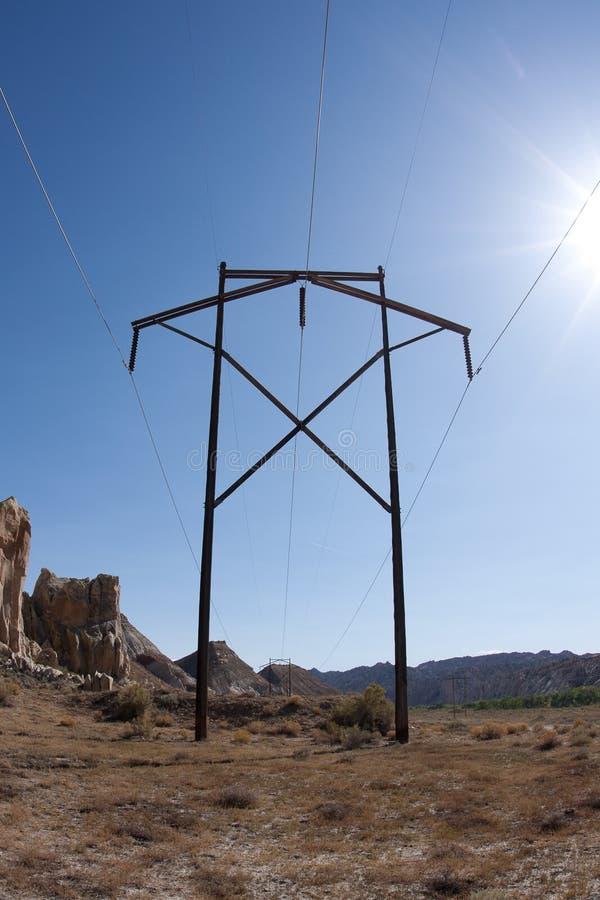 Kraftübertragung Pole lizenzfreies stockfoto