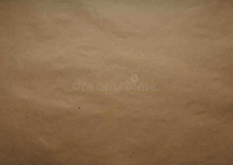 Kraft inpackningspapper ark Brun färg texturen Bästa sikt, närbild vektor illustrationer