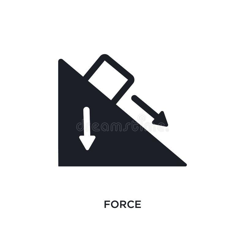 Kraft lokalisierte Ikone einfache Elementillustration von den Wissenschaftskonzeptikonen Logozeichen-Symbolentwurf der Kraft edit vektor abbildung