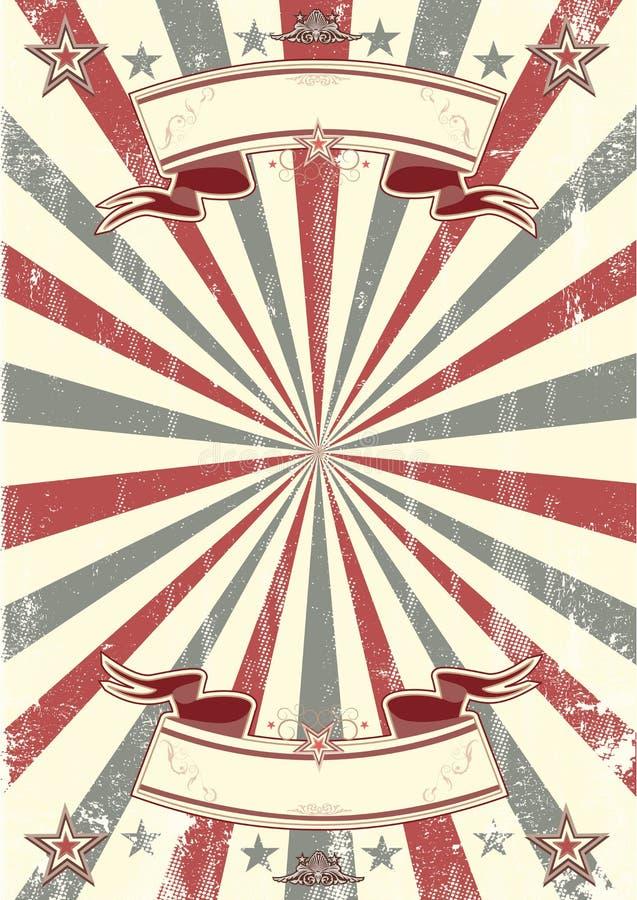 Kraft papieru retro plakat ilustracji