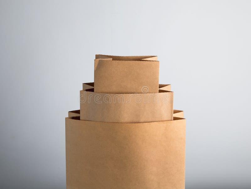 kraft pappers- påse arkivbild