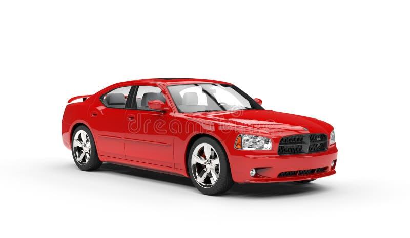 Kraftig röd bil arkivfoto