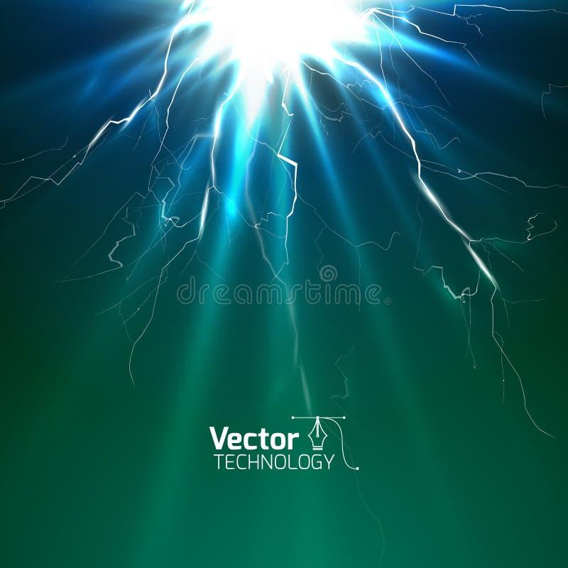 Kraftig skakning av elektricitet stock illustrationer