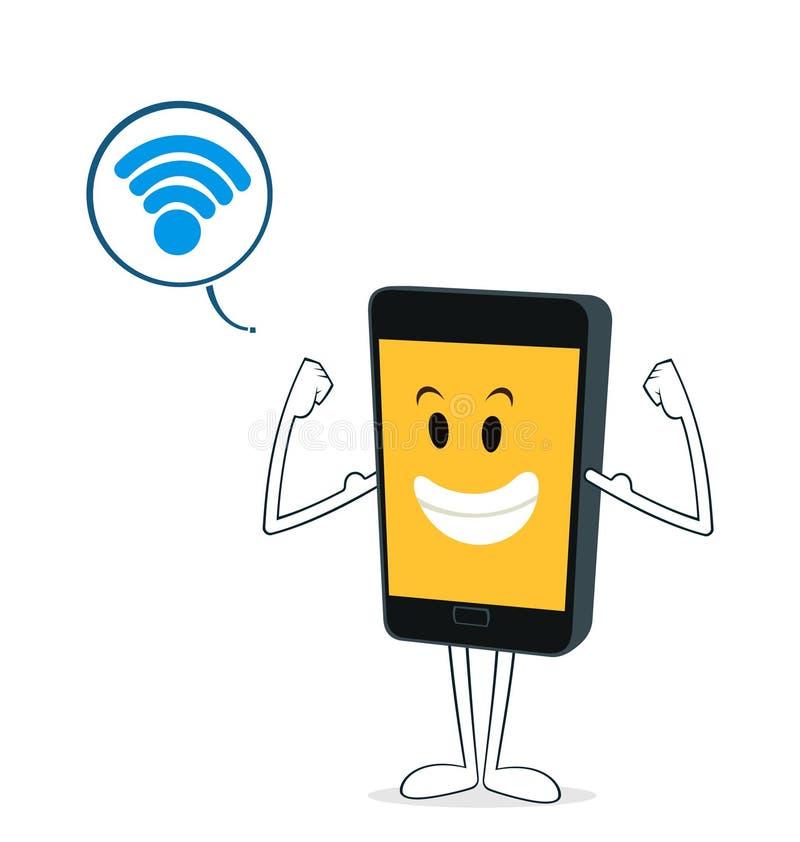 Kraftig smartphone royaltyfri illustrationer