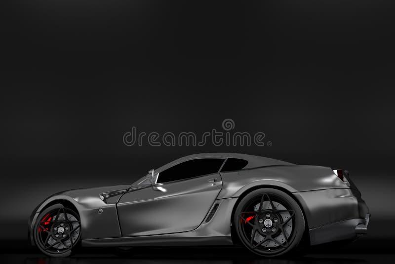 Kraftig sportig bil vektor illustrationer