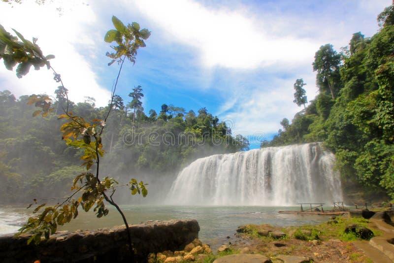 kraftig vattenfall fotografering för bildbyråer